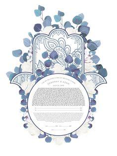 Hamsa, Long Sleeve Bridal Dresses, Geometric Star, Order Form, Blue Leaves, Hand Art, All Sale, Fine Art Paper, Giclee Print