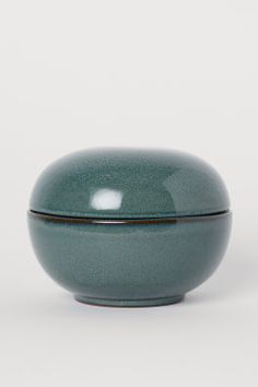 Glazed ceramic pot - Dark turquoise - Home All Home Interior Accessories, Interior Design, Metal Photo Frames, Small Glass Vases, H & M Home, Leather Tray, Fragrant Candles, Metal Figurines, Glass Jewelry Box