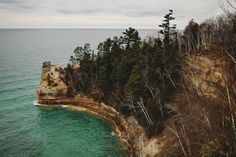 Pictured Rocks- if you look closely you can see a cave in the very lower left edge by the water. David, my sister and I have actually been in there! Sooo cool!