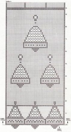 Filet Crochet, Advent Calendar, Christmas Crafts, Crochet Patterns, Cross Stitch, Holiday Decor, Home Decor, Pj, Crochet Table Runner
