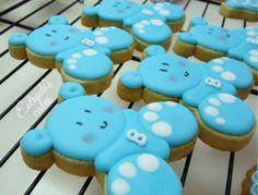 Estrade's cakes: galletas de osito, decoradas con glasa
