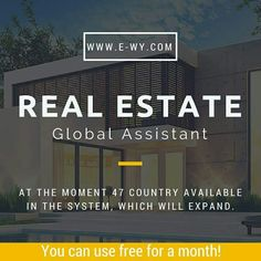 Real Estate Global Assistant 47 countries, 7 languages Customer: https://e-wy.com Seller: https://e-wy.com/office-search Real estate agency: https://e-wy.com/registration&code=probahonap