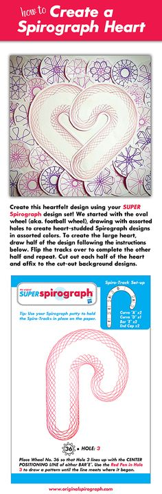 How to make a Spirograph Heart Collage