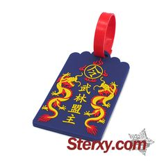 Anything cooler than being the strongest force in the Kung Fu stories? Equipped your luggage with this durable blue 'Wu Lin Meng Zhu' luggage tag! Find out more novelties at this link. Buy now!  http://www.sterxy.com/category/Luggage-Tags/159.html