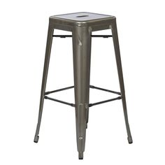 Office Star Products Vintage 30-inch Antique Finish Modern-style Sheet Metal Cafe and Bistro Bar Stools (Set of 2) (