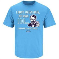 North Carolina Fans Shirt, Stay Victorious My Friends: Rivals Fanwear Carolina Pride, Carolina Blue, North Carolina, Unc Apparel, Sports Apparel, Unc Gear, Unc Tarheels, College T Shirts, Girls Heels