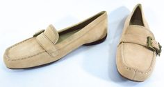 New UGG Australia 8 Crawford Beige Suede Buckle Loafers Slip On Flats Shoes 5149 #UGGAustralia #LoafersMoccasins