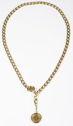 Chanel Coin Chain Necklace Belt. #Necklace #Belt #Coin #Chain #Chanel  #TreasureTroveNYC #nyc #onekingslane