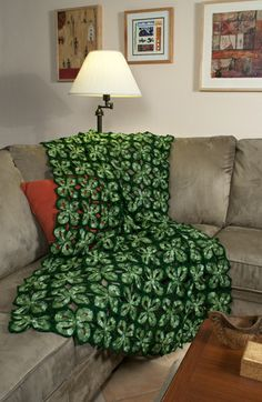 Get in the St. Patrick's day spirit with the #Shamrock afghan from #LeisureArts!