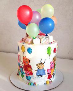 Доброе утро! Свинка Пеппа в фаворитах у малышей, а здесь ещё и мадам Газель и все все всеВ декоре воздушные шарики для меня это всегда праздник!