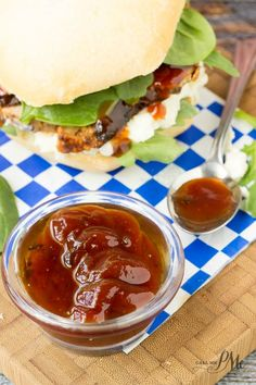 Pork Tenderloin Sliders with Bourbon Peach BBQ Sauce are stacked high with tender pork, creamy slaw and tangy, sweet Peach BBQ Sauce that's been spiked with bourbon.