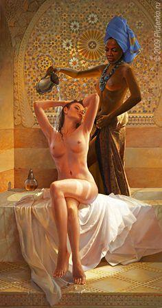 Glazing Painting by Artist Stanislav V Plutenko