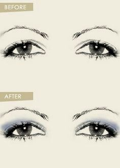 Where to appy makeup to make saggy eyelids pop