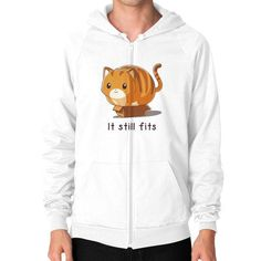If it fits I sits Zip Hoodie (on man) Shirt
