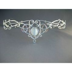 SilverMoon Crown Tiara Sterling Headpiece Wedding Bridal Celtic Elven... ($355) ❤ liked on Polyvore