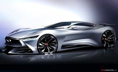 Infiniti Vision GT for Gran Turismo 6 Gets Global Unveiling in China Car Design Sketch, Car Sketch, Design Cars, Auto Design, In China, Automobile, Futuristic Cars, Transportation Design, Sexy Cars