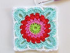 Crochet square pattern-granny square haken patroon