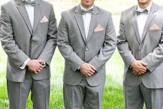 I love the bow ties and pink hankies!