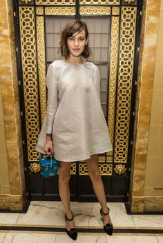 How to make overalls work for a meeting — a lá Alexa Chung