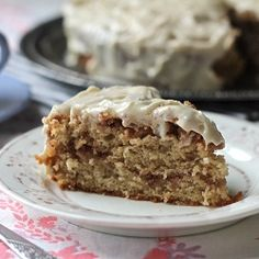 Coffee Cake with Walnuts and Vanilla Frosting