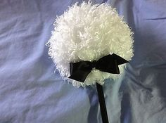 nice Lollipop body powder puff shaggy puff with handle black - For Sale View more at http://shipperscentral.com/wp/product/lollipop-body-powder-puff-shaggy-puff-with-handle-black-for-sale/