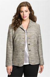 Lafayette 148 New York 'Olivia' Jacket (Plus)