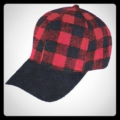 Black and red checkered hat ❤️❤️ Black and red checkered cap/hat, Flat front ( the black part in the front of the hat) very comfortable.  Target  Accessories Hats