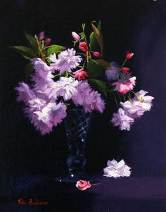 https://flic.kr/p/ueKn7E | Cherry Blossom Study_By Vicki Sullivan | Cherry blossom#Cherry Blossom festival#Original Oil painting#Australian Art#Art Renewal Centre#Associate Living Master#Still Life#Flower painting#Tonal painting#Cherry#