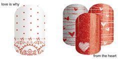 I'm THRILLED to be announcing Jamberry's newest Charity wrap! We will be continuing our support of the Go Red For Women movement into 2016 with the launch of two new nail wrap designs. Love is why (on the left) From the heart (on the right) Jamberry donates $2.00 for every sheet of charity nail wraps purchased to the American Heart Association. https://mdp.jamberry.com/us/en/shop/shop/for/nail-wraps?collection=collection%3A%2F%2F1075#.VodT1dIrLs1