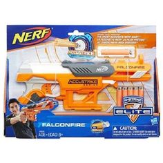 Your kids can strike with confidence as they blast darts designed for accuracy with this Nerf N-Strike Elite AccuStrike Series FalconFire Blaster. All Toys, Toys R Us, Nerf Darts, Nerf Toys, Take Aim, Outdoor Toys, Kids Store, Learning Games, Control