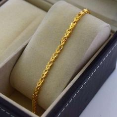 Gold filled jewelry is an economical alternative to solid gold jewelry! Although it isn't solid gold jewelry. Do not wear your jewelry in hot tubs and swimming pools. Gold Bracelet Indian, Mens Gold Bracelets, Gold Bracelet For Women, Jewelry Bracelets, Ladies Bracelet, Coin Bracelet, Diamond Bracelets, Gold Chain Design, Gold Bangles Design