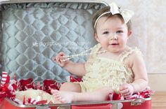 Baby lace petti romper  IVORY  Photography Prop  by PrincessPlease, $14.99