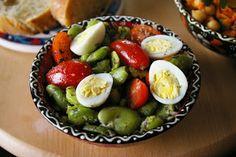 zadanie - gotowanie: Egipska sałatka z bobu.