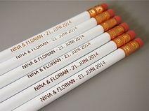 Personalisierte Bleistifte! Hochzeit! Custom pencils! Wedding!