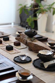 Chinese Tea Room, Japanese Dinner, Japanese Art, Japanese Dining Table, Tea Room Decor, Bamboo House Design, Tea Places, Tea Design, Tea Culture
