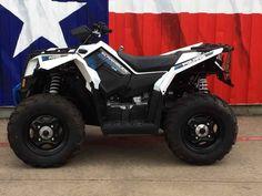 New 2016 Polaris Scrambler 850 White Lightning ATVs For Sale in Texas.