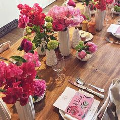 Beautiful and simple table display for a women's party, bridal shower, or baby shower