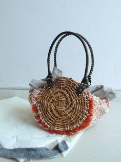 ebagos エバゴス 籐使いバッグ