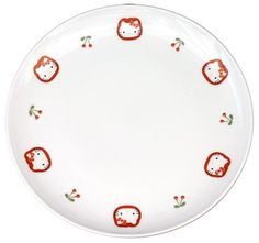 Arita porcelain (有田焼) Hello Kitty Cherry Dish (dia.19.4cm/7.6in), can buy direct from Japan.