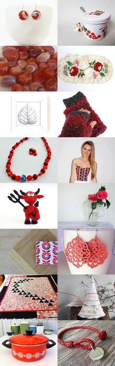 Red and white by Robyn on Etsy--Pinned with TreasuryPin.com