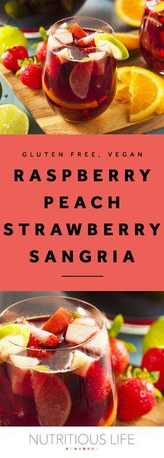 Raspberry Peach Strawberry Sangria Recipe