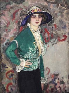A Portrait of a Lady with a Hat - Jan Slujiters 1911
