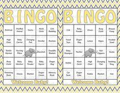 30 Baby Shower Bingo Cards   Printable Gender Neutral .