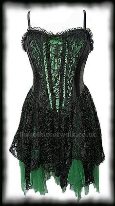 gothic red corset  victorian dress  wardrobe wonders