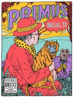 Primus poster from Dallas by Broken Fingaz Crew