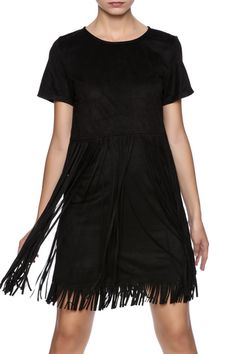 f382edbb8a Bio Fringe Dress from Naples by Bio New York — Shoptiques Faux Suede  Fabric, Fringe