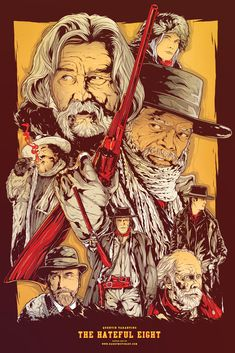 Quentin Tarantino's The Hateful Eight - Rad poster art by Harry Best Movie Posters, Cinema Posters, Movie Poster Art, Film Posters, Poster Drawing, The Hateful Eight, Eight Movie, Quentin Tarantino Films, Alternative Movie Posters