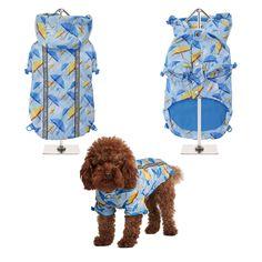 NEW - Umbrella Print Rainstorm Rain Coat -Rain Jacket For All Sized Dogs - Dog Jackets - Pet Supplies - Dog Raincoat - Dog Waterproof Coat Puppy Collars, Leather Dog Collars, Cat Collars, Dog Coat Pattern, Coat Patterns, Dog Jacket, Rain Jacket, Dog Raincoat, Waterproof Coat