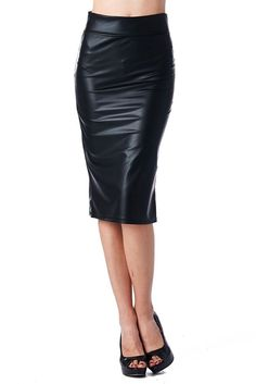 It is made with Faux Leather to bring the sexy touch. This skirt has a good quality that is made with Ponte Roma thick fabric which makes it impossible to be see through.You can dress it up with heels and a dressy top or be more casual with an over-sized top or sweater and boots. | eBay!