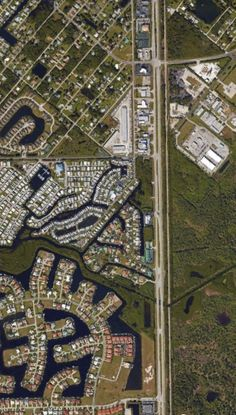 Satelital. From the Air. Charlotte Park,Florida,USA